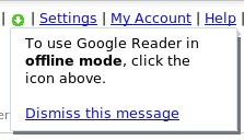 Google Reader en modo Offline
