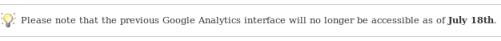 Google Analytics antiguo