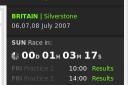 Cuenta atrás de tiempo de la próxima carrera de fórmula 1