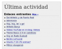 Enlaces entrantes del blog de WordPress