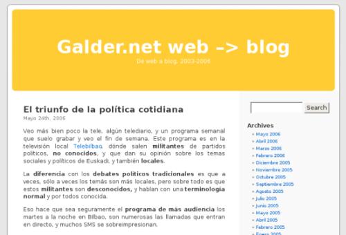 galder.net mi primer blog