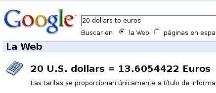 Convertir Dólares A Euros Con Google