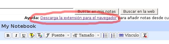 Descargar extensión Google Notebook