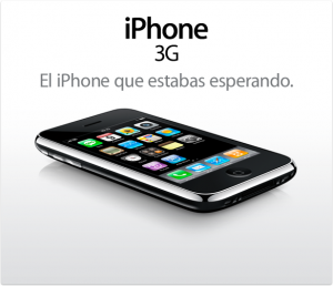 Imagen del Iphone 3G, de la web de Apple