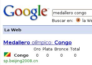 Búsqueda Medallero del Congo