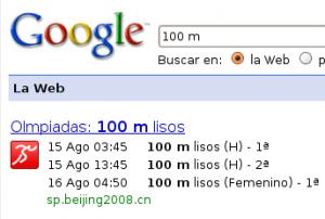 Imagen de las Olimpiadas en Google