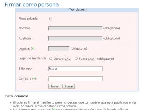 """Imagen formulario """"Queremos software libre"""""""