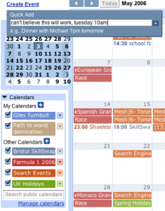Imagen de Google Calendar, de http://www.thinkvitamin.com/reviews/webapps/google-calendar