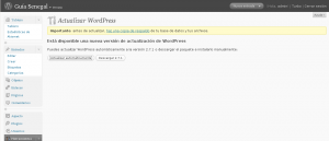 Actualiza WordPress 2.7.1