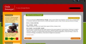 Imagen de captura de Guía Senegal con el theme Ahimsa