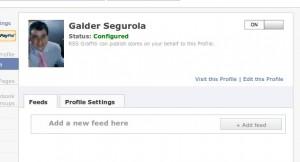 Añadir feed de nuestro blog al muro de Facebook