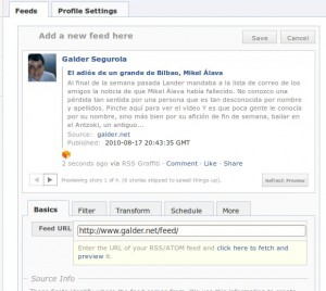 Previo posteo Facebook desde tu blog