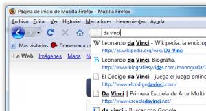 Imagen de la búsqueda en la barra de direcciones de Firefox