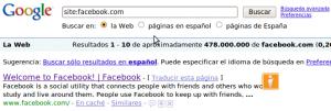 478 millones de resultados de Facebook