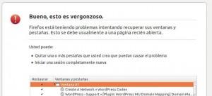 Firefox, bueno esto es vergonzoso...