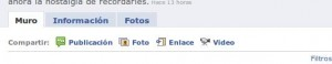 Facebook Wall muro amigos