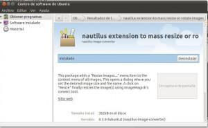 Extensión de nautilus para redimensionar masivamente