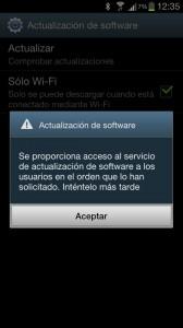 Error al actualizar el Samsung Galaxy S3