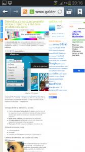 galder.net diseño GenkiTheme desde el móvil