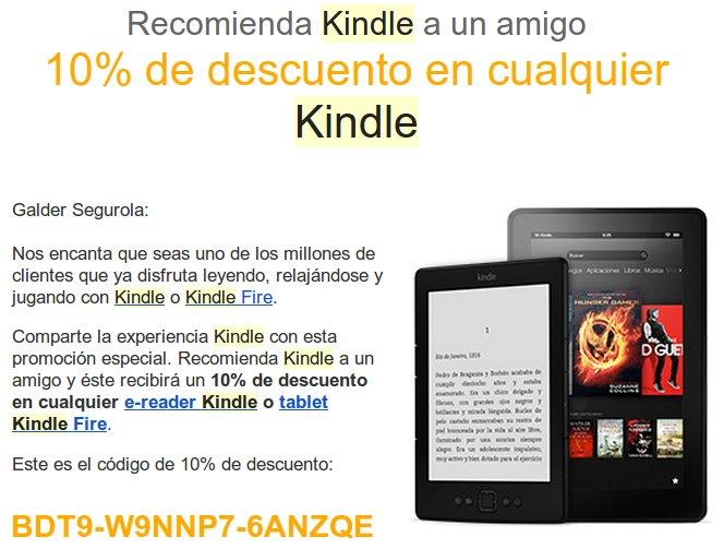 Kindle Cupón descuento