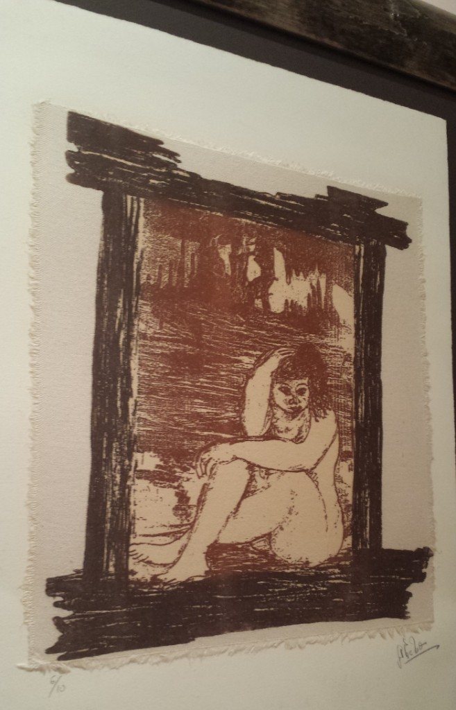 Grabado gordita en Pozalagua de Teresa Ahedo