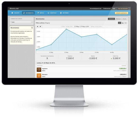 Webs y apps de ahorro, control de gasto